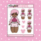Tattooed Piglet Babe Doodle Sticker | Choose your Skin Tone!