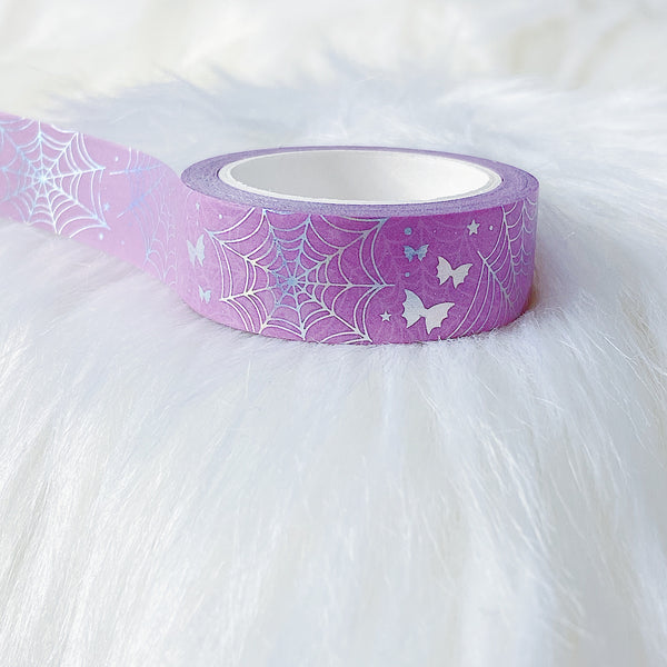 Pink Spider Webs + Bat Bows 15MM Washi