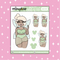 Tattooed Tinkerbell Babe Doodle Sticker | Choose your Skin Tone!