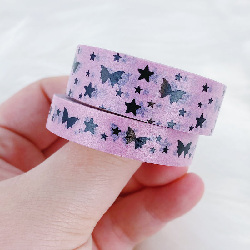 Pastel Pink Bat Bow Magic Washi Bundle