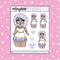 Tattooed Ms. Potts Babe Doodle Sticker | Choose your Skin Tone!