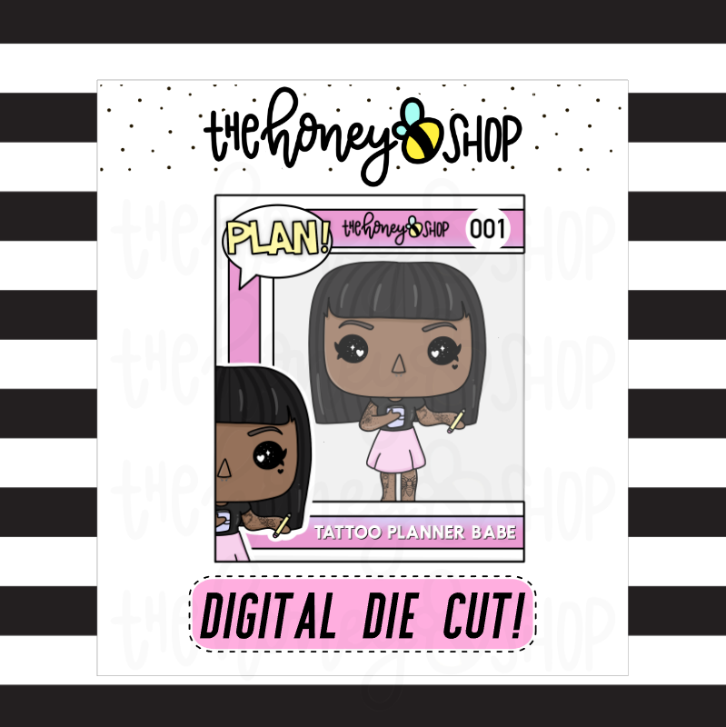 Tattoo Planner Babe Pop | DIGITAL DOWNLOAD | PICK YOUR SKIN TONE
