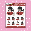 Tattooed Disney Treat Babe Doodle Sticker | Choose your Skin Tone!