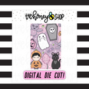 Kawaii Halloween 4x6 Card | DIGITAL DOWNLOAD | PICK YOUR SKIN TONE