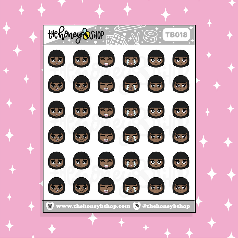 Babe♡Bees Emojis Doodle Sticker | CHOOSE YOUR SKIN TONE