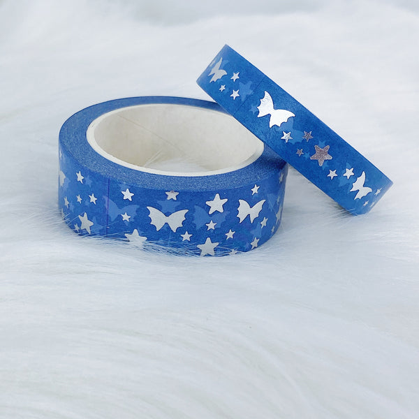 Sugar Plum Fairy Deep Blue Bat Bow Magic Washi Bundle