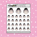 Eye Mask Babe♡Bees Doodle Sticker | CHOOSE YOUR SKIN TONE