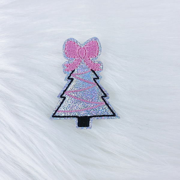 Holographic Pastel Christmas Tree Feltie | CHOOSE YOUR HARDWARE