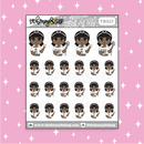 Cleaning Babe♡Bees Doodle Sticker | CHOOSE YOUR SKIN TONE