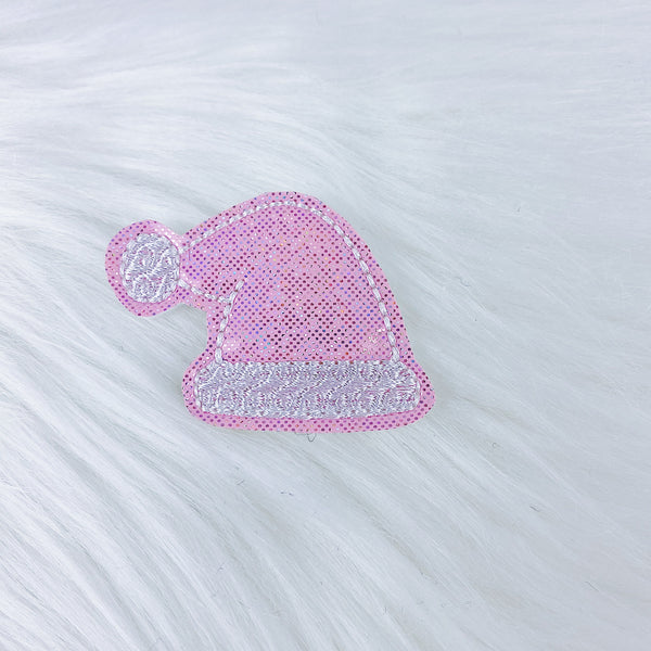 Pink Santa Hat Feltie | CHOOSE YOUR HARDWARE