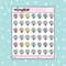 Pastel Santa Baby Babe Doodle Sticker | PICK YOUR SKIN TONE