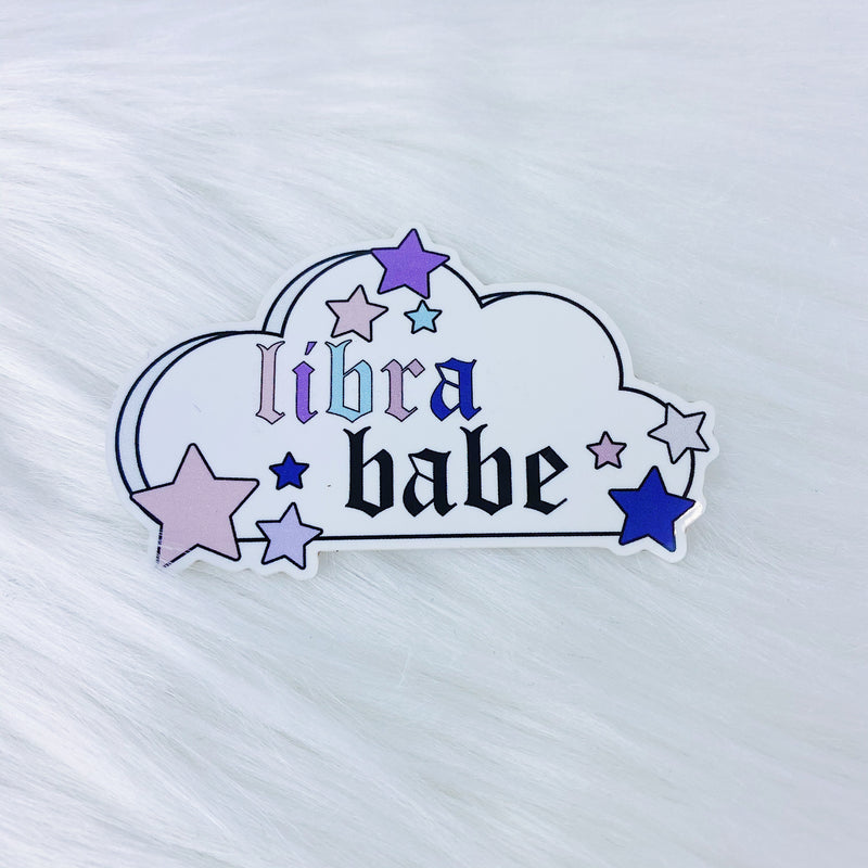 Libra Babe Zodiac Cloud Vinyl Sticker Die Cut