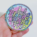 Official Planner Babe Club Member Vinyl Sticker Die Cut | Holographic Glitter