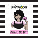 Pastel Pumpkin Pop Babe | DIGITAL DOWNLOAD | PICK YOUR SKIN TONE