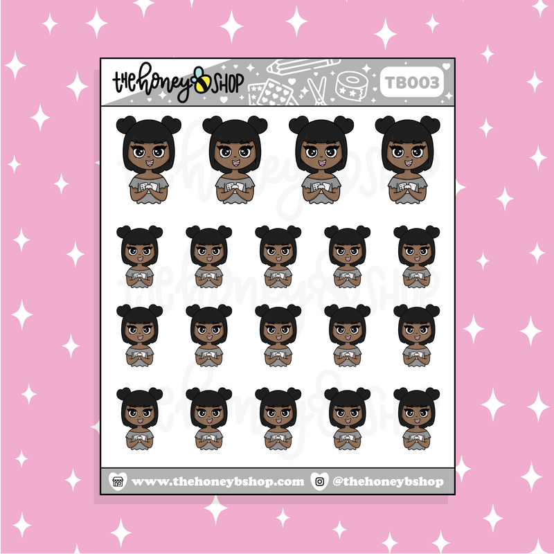 Stickers Galore Babe♡Bees Doodle Sticker | CHOOSE YOUR SKIN TONE