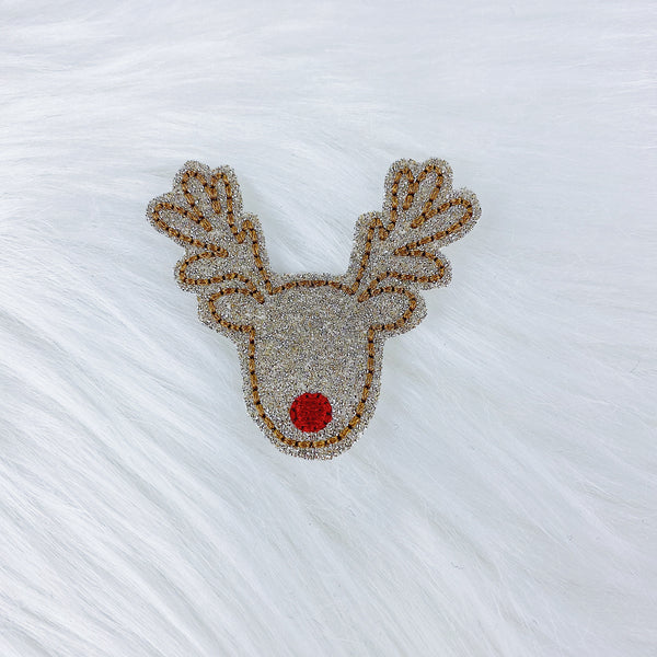 Glitter Rudolf Feltie | CHOOSE YOUR HARDWARE