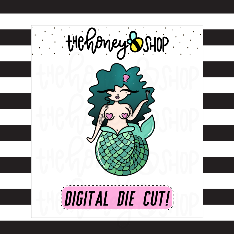 Mermaid Babe | DIGITAL DOWNLOAD | PICK YOUR SKIN COLOR