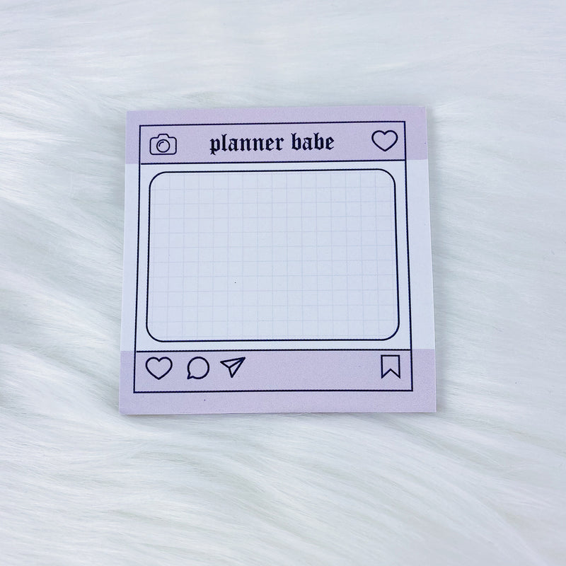 Planner Babe Insta Sticky Note | 3x3 + 25 Sheets