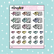 Pastel Present Wrapping Babe Doodle Sticker | PICK YOUR SKIN TONE