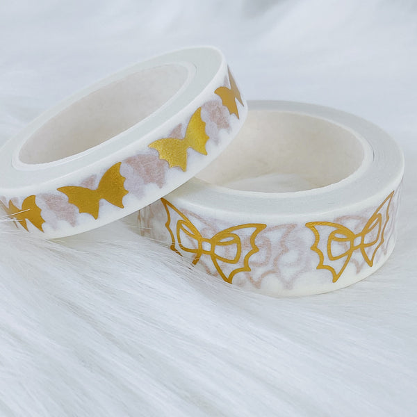 Festive White Bat Bow Washi Bundle
