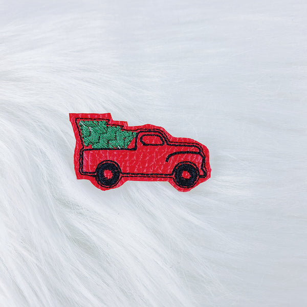 Christmas Tree Truck Feltie | CHOOSE YOUR HARDWARE