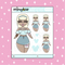Tattooed Cinderella Babe Doodle Sticker | CHOOSE YOUR SKIN TONE