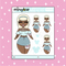 Pastel Christmas Babe Doodle Sticker | PICK YOUR SKIN TONE