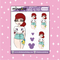 Tattooed Ariel Babe Doodle Sticker | CHOOSE YOUR SKIN TONE