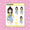 Pastel Present Babe Doodle Sticker | PICK YOUR SKIN TONE