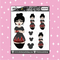 Tattooed Mulan Babe Doodle Sticker | CHOOSE YOUR SKIN TONE