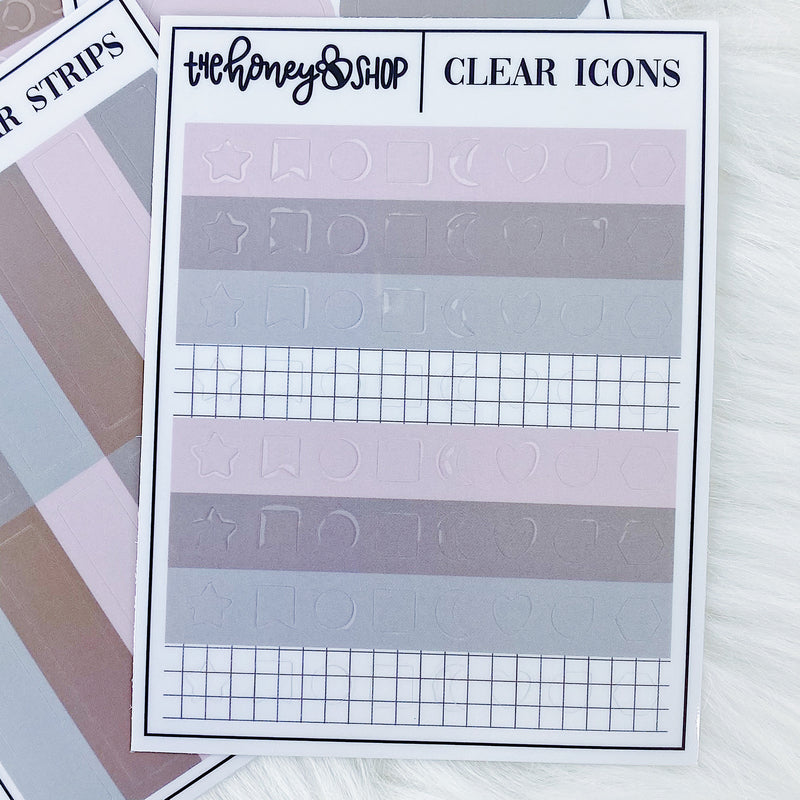 Blush Baby Clear Functional Sticker Pack | 4 Sheets Included