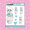 Tattooed Elsa Babe Doodle Sticker | CHOOSE YOUR SKIN TONE