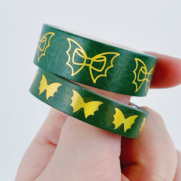 Jolly Green Bat Bow Washi Bundle