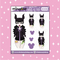Tattooed Maleficent Babe Doodle Sticker | CHOOSE YOUR SKIN TONE