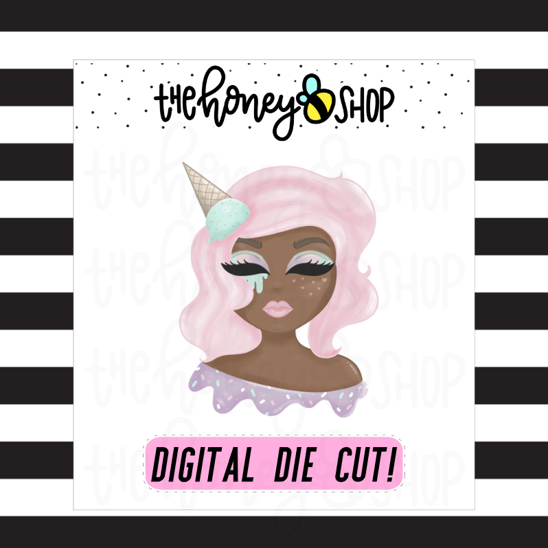 Sweet Ice Cream Babe | DIGITAL DOWNLOAD | PICK YOUR SKIN TONE