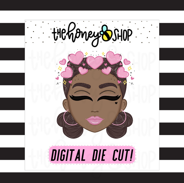 Hearts Filter Babe | DIGITAL DOWNLOAD | PICK YOUR SKIN TONE