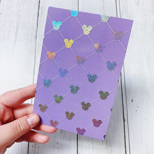 Villains Quilted Journaling Card | Sparkly Holo Foil