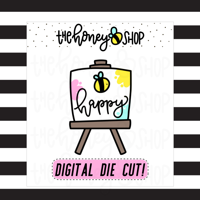 Bee Happy Canvas | DIGITAL DOWNLOAD