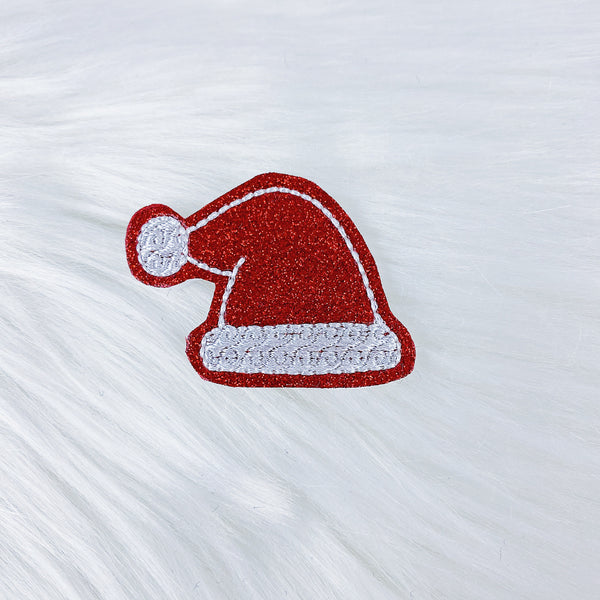 Red Santa Hat Feltie | CHOOSE YOUR HARDWARE