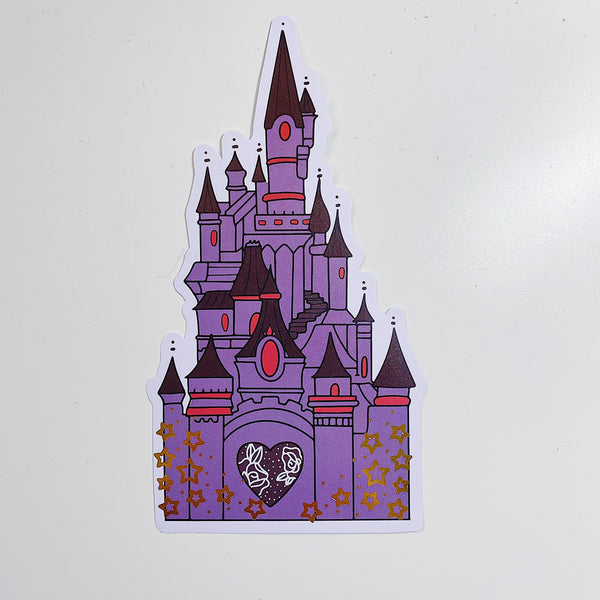 Villain Castle Vinyl Die Cut | Gold Foiled