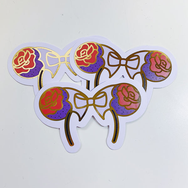 Bat Bow Ears Vinyl Die Cut Pack | Gold Foiled