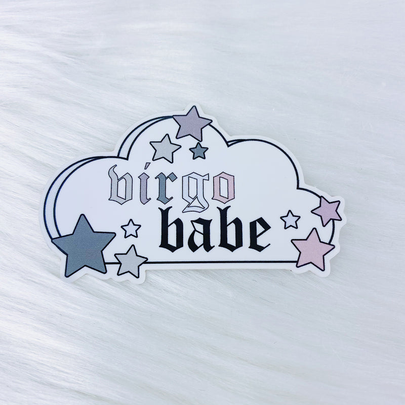 Virgo Babe Zodiac Cloud Vinyl Sticker Die Cut