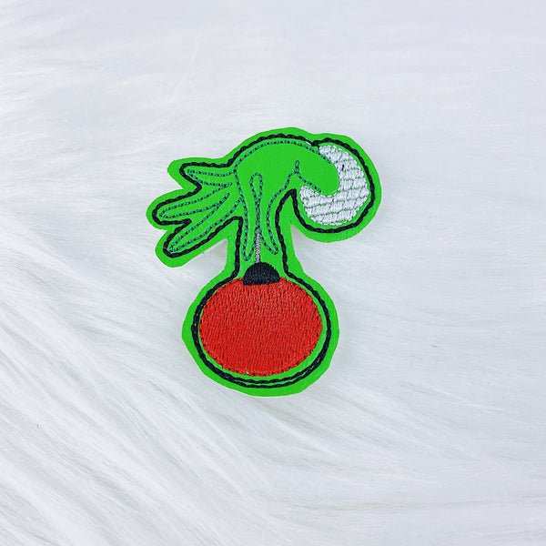 Grinch Ornament Feltie | CHOOSE YOUR HARDWARE