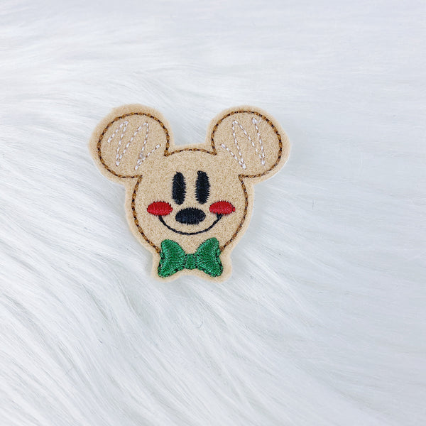 Mickey Gingerbread Feltie | CHOOSE YOUR HARDWARE
