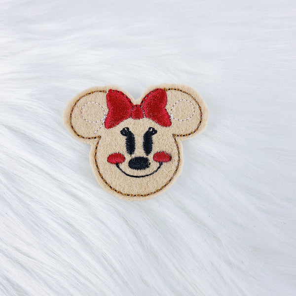 Minnie Gingerbread Feltie | CHOOSE YOUR HARDWARE