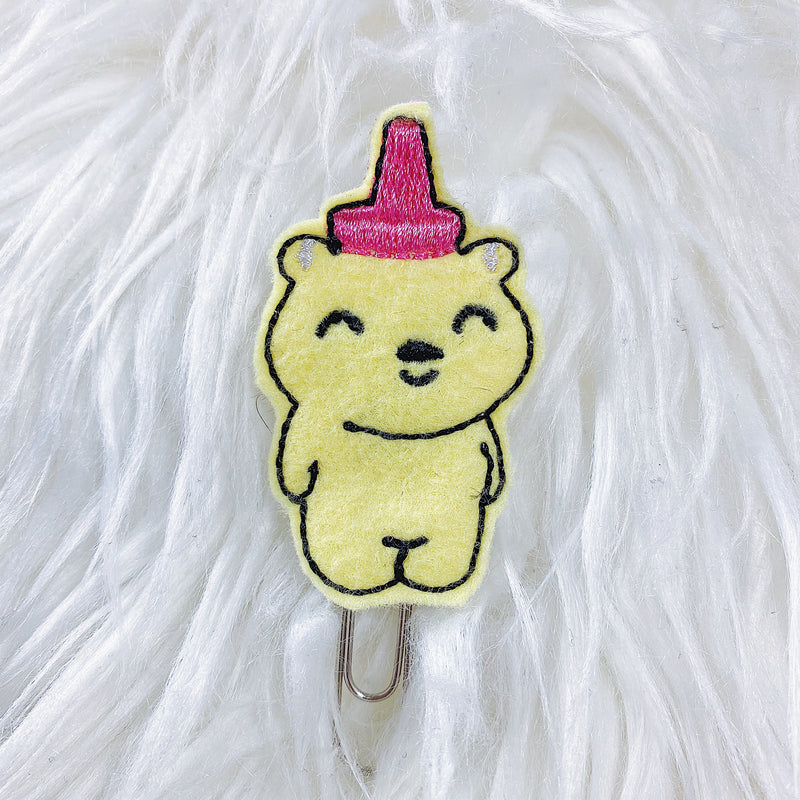 Honey Bear Feltie Planner Clip