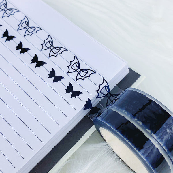 Clear Black Bat Bow Washi Bundle