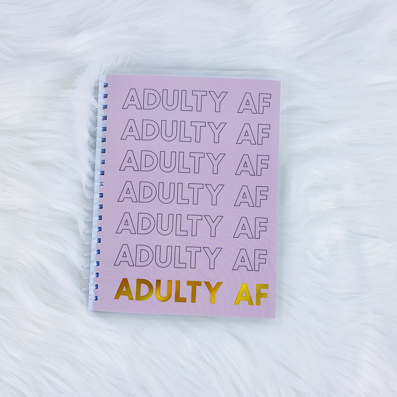 Adulty AF Weekly + Daily Spiral B6 Planner | Includes 3 Months!