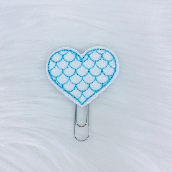Aqua Mermaid Heart Feltie | CHOOSE YOUR HARDWARE