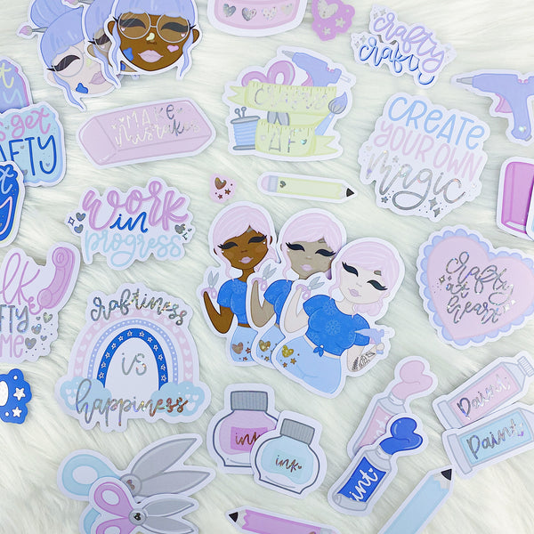 Crafty at Heart Die Cut Pack | Star Holo Foiled | ALL Skin Tones Included